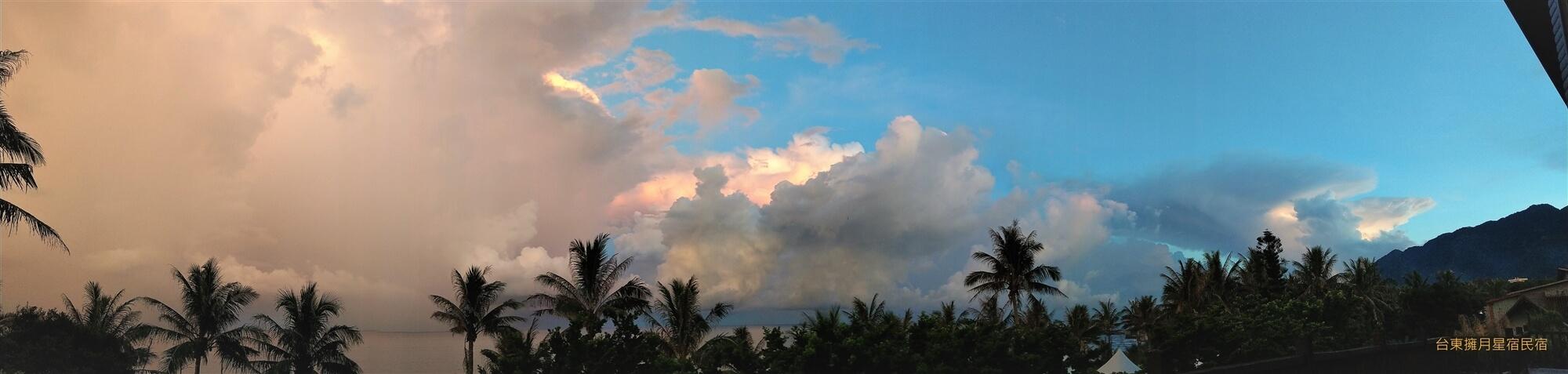 風雨欲來的天色變化 相片來源:台東民宿•擁月星宿(原福樟紅檜木屋)