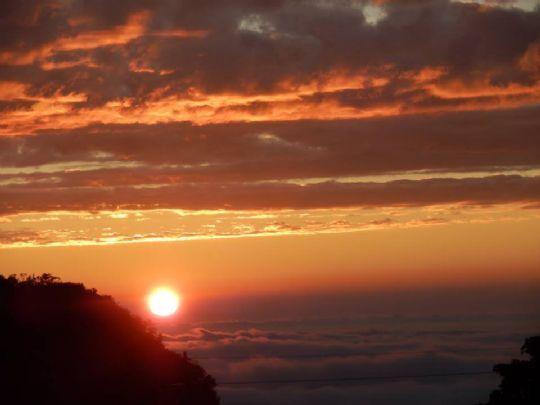 夕陽&雲海