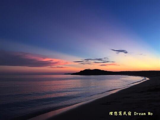 山水沙灘 晚霞 相片來源:澎湖理想窩民宿