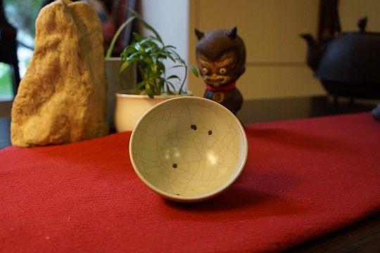 章格銘老師汝釉黑斑茶杯
