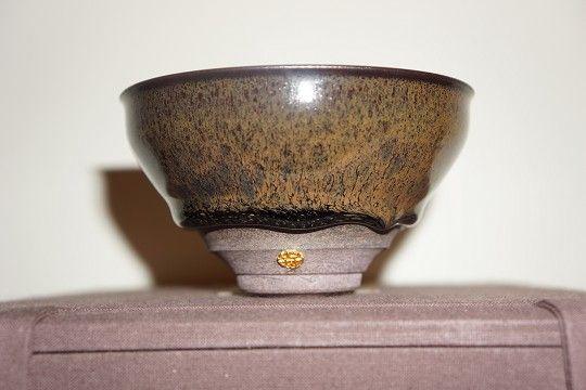 相片描述:江玗老師天目茶碗(手作玗字款)