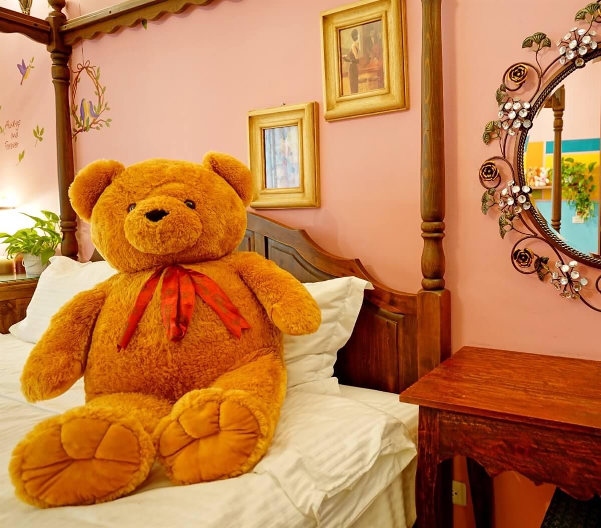 熊熊館-熊公主雙人房 相片來源:花蓮愛戀屋民宿