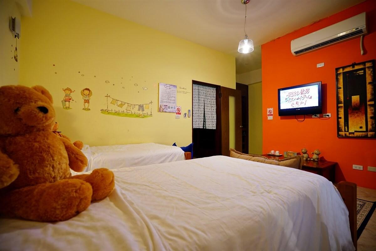 熊熊館-熊峇里2人房 相片來源:花蓮愛戀屋民宿