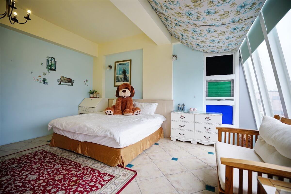 熊熊館-熊看海雙人房 相片來源:花蓮愛戀屋民宿