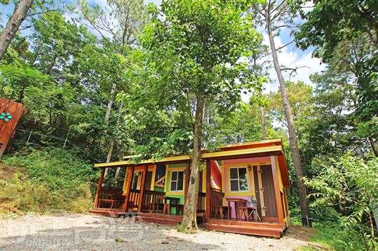新竹北埔老街露營區‧還真山林輕露營小木屋住宿