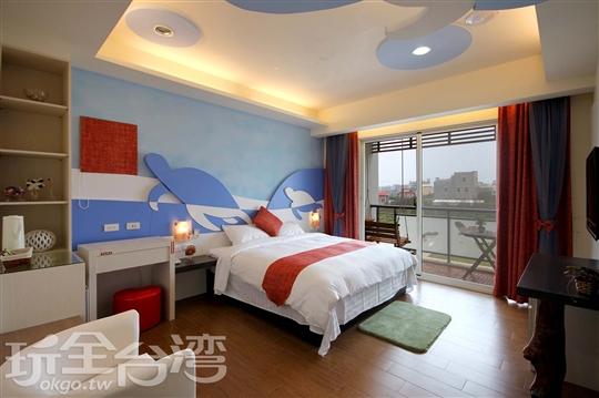 205 海龜二人房~可變換2張單人床(請於住宿前提出)