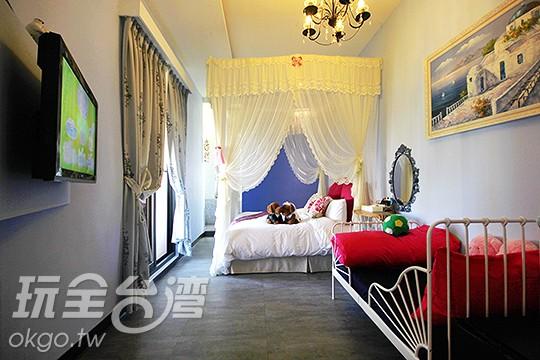 雙人房-藍色海洋2+1溜滑梯親子房(含景觀陽台及大型家庭浴缸)