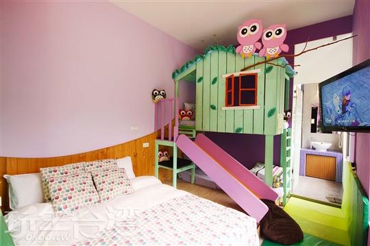 四人房-微笑森林溜滑梯親子房
