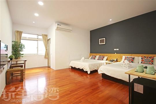4F 舒適四人套房(有對外窗)