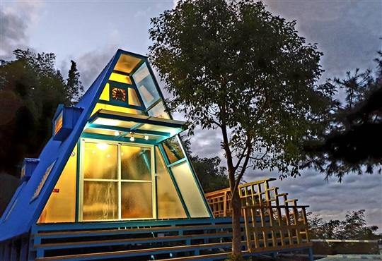 星空琉璃木屋
