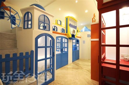 希臘城堡扭蛋溜滑梯房