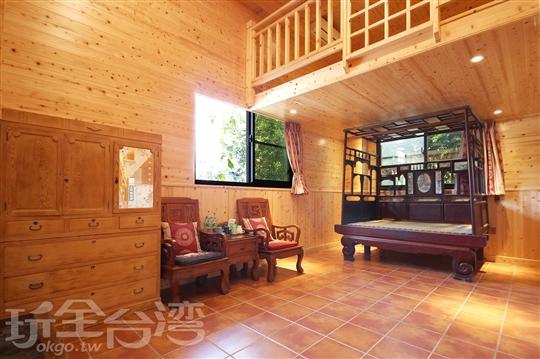 室內營位檜木🏠-古代床體驗屋(1F)
