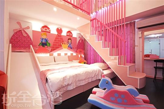 城堡五人套房(溜滑梯、大浴缸、陽台)