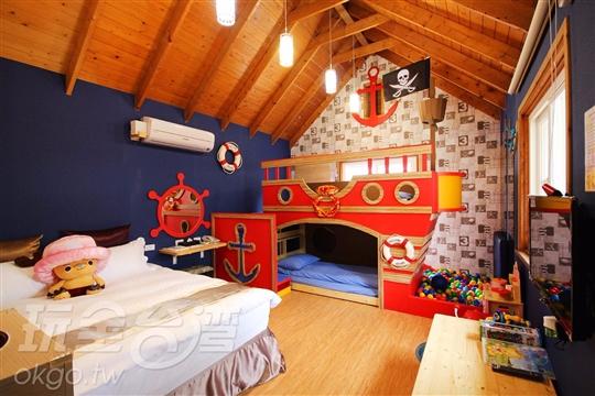 海船屋2大2小木屋