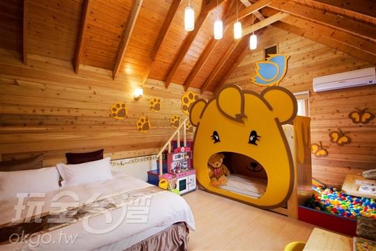 鹿鹿熊2大2小木屋