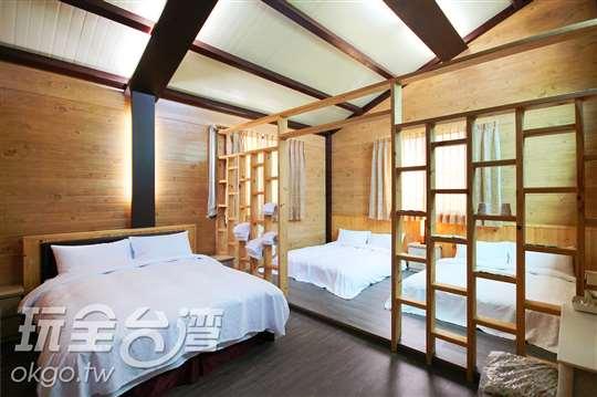 山林景觀6人套房(客廳、陽台)
