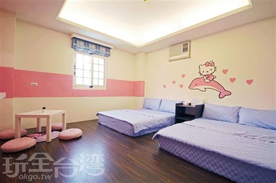 205-粉紅系/四人和室套房
