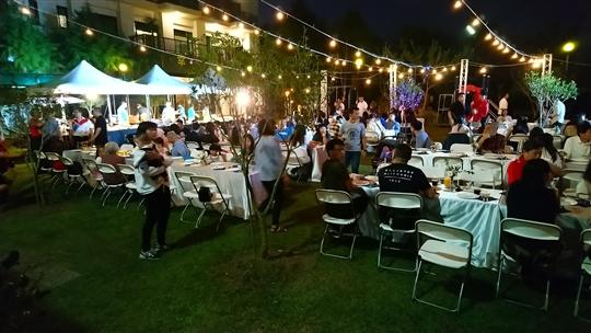 夜間庭園婚宴