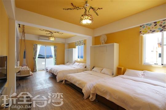 3樓 現代風6人房(海景房)