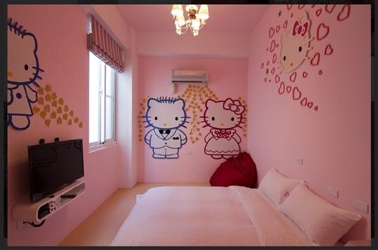 1樓 卡通貓2人房