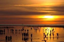 高美溼地夕陽