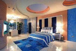 水藍色的色調搭配造景區水舞畫面,讓您沉浸在水舞多變的情境中