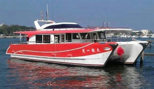 日月潭大粧遊艇船隊-大粧一號雙體電動船