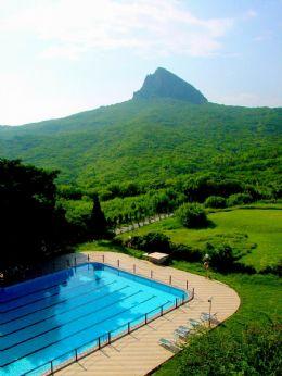 墾丁賓館的山水風景
