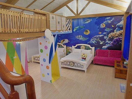 海底世界親子8人房