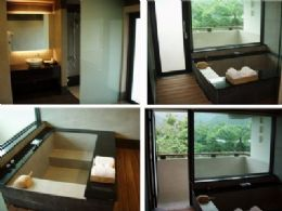 景觀雙人套房 精緻湯屋與衛浴設備