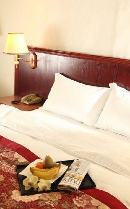 柔軟的羽毛被、羽毛枕和進口的床墊伴您夜夜好眠