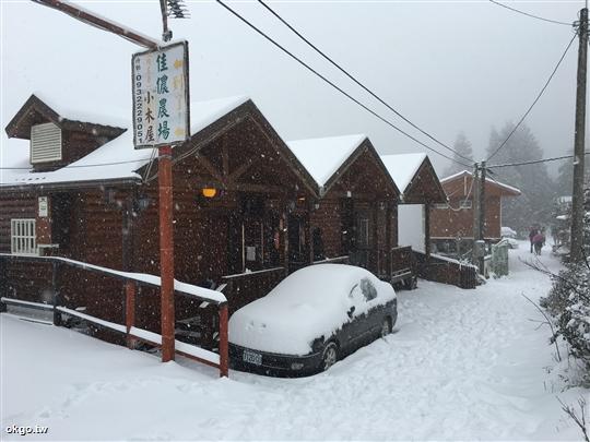 佳儂景觀木屋農莊 冬天下雪雪景