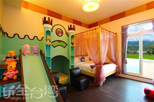 柏林城堡親子溜滑梯四人房