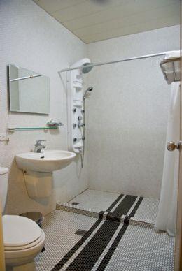 浴室裝有按摩淋浴