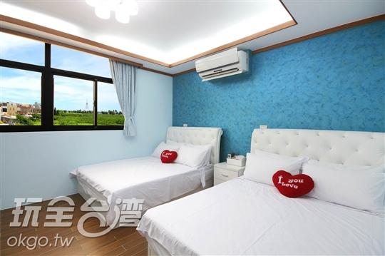 蔚藍兩大床
