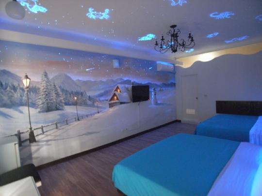 北歐雪景主題房