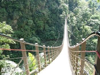 天梯、太極峽谷、梯子吊橋(大鞍竹海風景區)